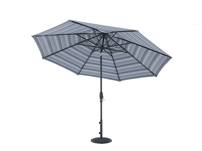 2 PC 11 Ft Auto Tilt Umbrella in Trusted Coast with Black Frame