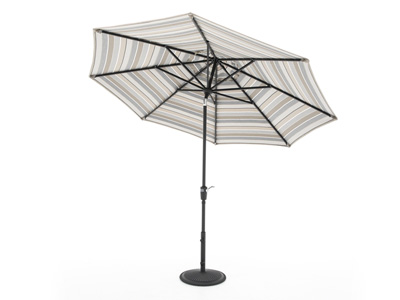 Milano Charcoal Stripe 3-pc. 9' Patio Umbrella