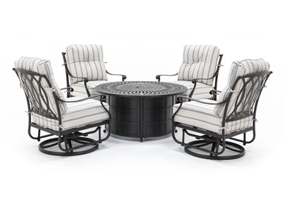 Mayfair 5PC Firepit Chat Set