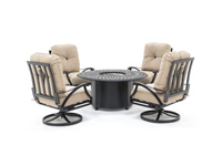 San Tropez 5PC Firepit Chat Set