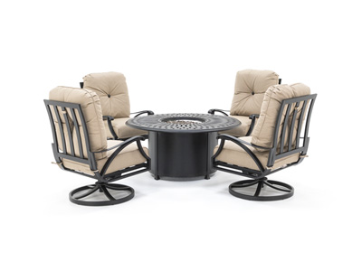San Tropez 5-pc. Firepit Chat Set
