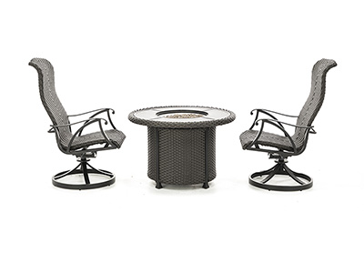 San Tropez 3-pc.Firepit Set
