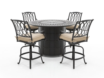 Mayfair 5-pc. Counter Height Firepit Patio Set