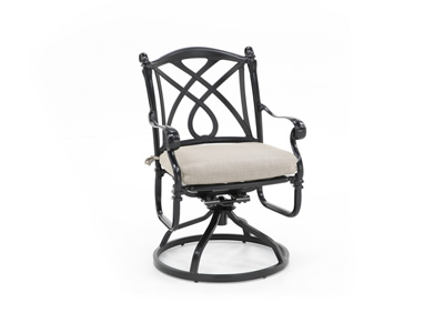 Cassidy Ash Swivel Patio Chair
