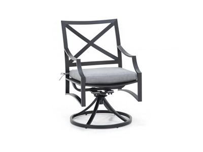 Monte Carloe Slate Swivel Patio Chair
