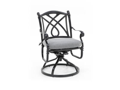Cassidy Slate Swivel Patio Chair