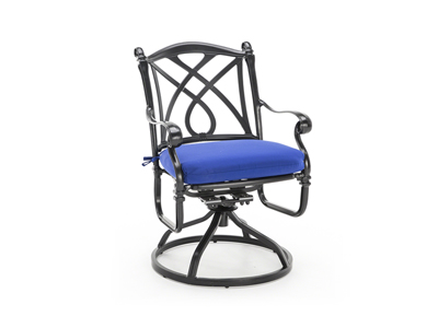 Cassidy Blue Swivel Patio Chair