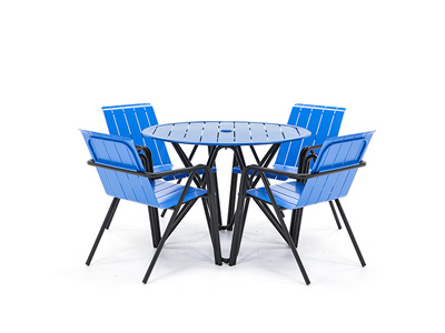 Impressions 5 PC Blue and Black dining set