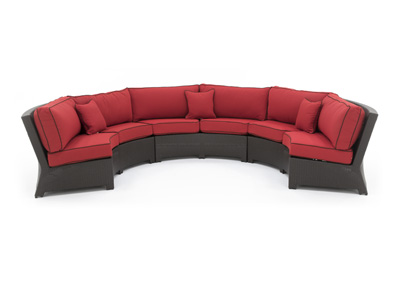 Cabo Ruby Contour Curved Sofa