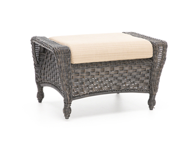 Georgetown Latte Wicker Ottoman