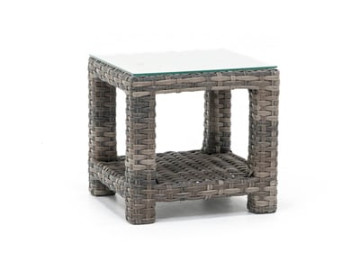 Portofino Glass Top End Table