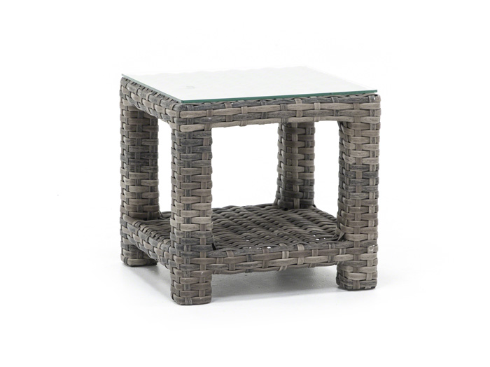 Portofino End Table with Glass Top
