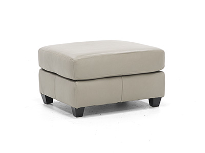Murray Leather Ottoman