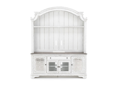 "Magnolia Manor 74"" Entertainment Stand & Hutch"