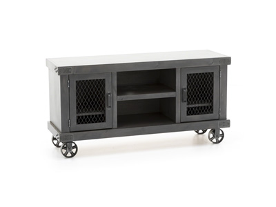 "Industrial Smoke Grey 55"" Entertainment Console"