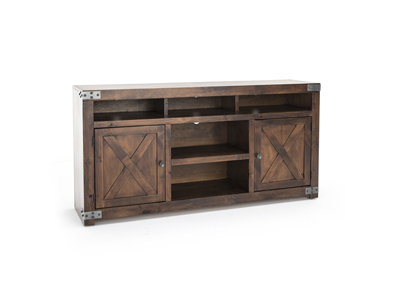 "Farmhouse Fruitwood 65"" Entertainment Console"