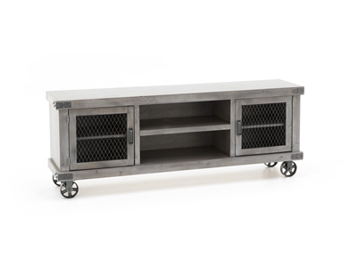 "Industrial 74"" Smoke Grey Console"