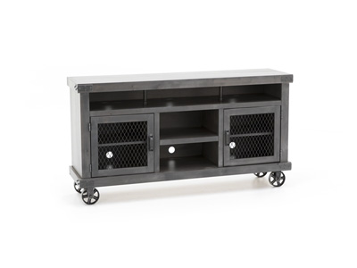 "Industrial Smoke Grey 65"" Entertainment Console"