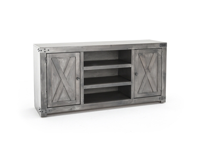 "Farmhouse Smokey Grey 60"" Entertainment Console"