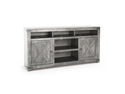 "Farmhouse Smokey Grey 65"" Entertainment Console"