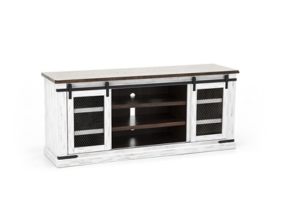"Milo White 70"" Entertainment Console"