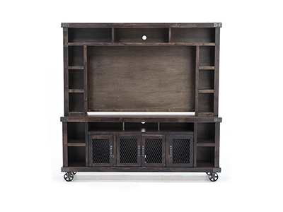 "Industrial Tobacco 84"" Console & Hutch"