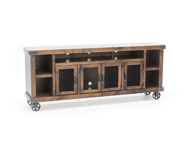 "Industrial Fruitwood 84"" Console"