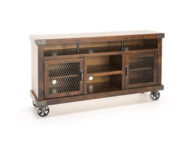 "Industrial Fruitwood 65"" Entertainment Console"