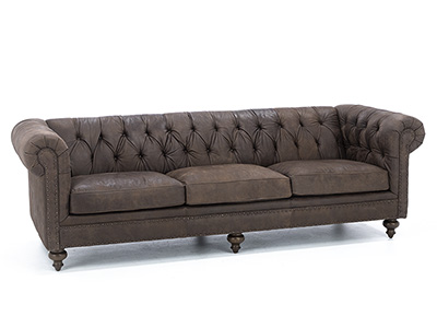 Cheshire Leather Large Sofa
