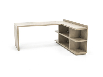 Perspectives L-Desk with Bookcase