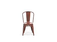 Kelly Red Distressed Metal chair