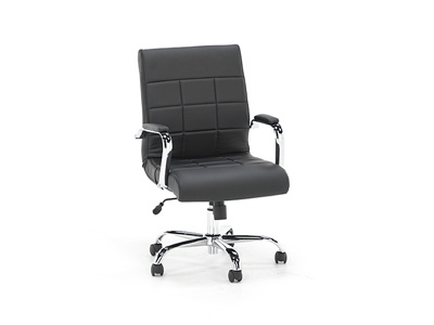 Tanners Creek Black Vinyl Swivel Chair