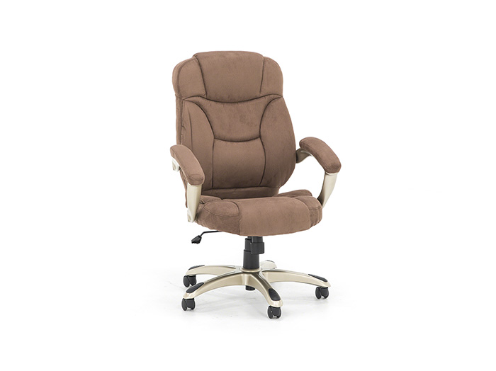 Brown Microfiber Exec Swivel Chair