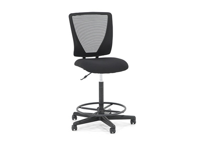 Sit & Stand Black Mesh Drafting Stool