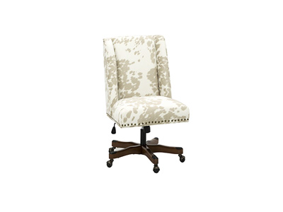 Draper Hide Print Office Chair