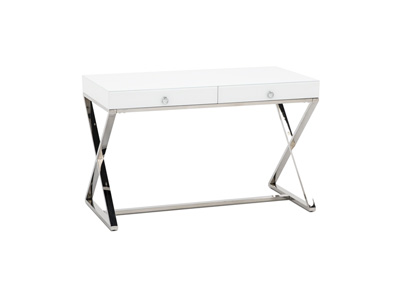 White Glass Accent Desk