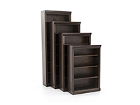 "Classic 84"" Kane Brown Bookcase"
