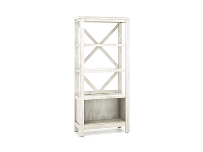 Asher White Washed Bookcase