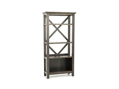 Asher Grey Brown Bookcase