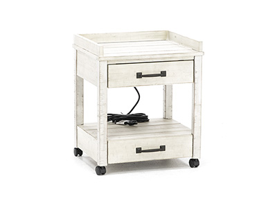 Asher White Washed Printer Stand
