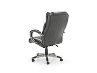 Sit & Stand Espresso Brown Leather Exec. Swivel Chair