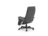 Heritage Brown Leather Exec. Reclining Swivel Chair