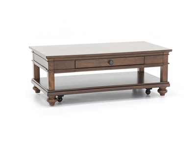 Oxford Whiskey Brown Cocktail Table