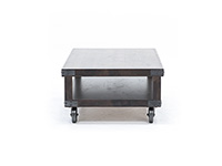 Industrial Tobacco Cocktail Table