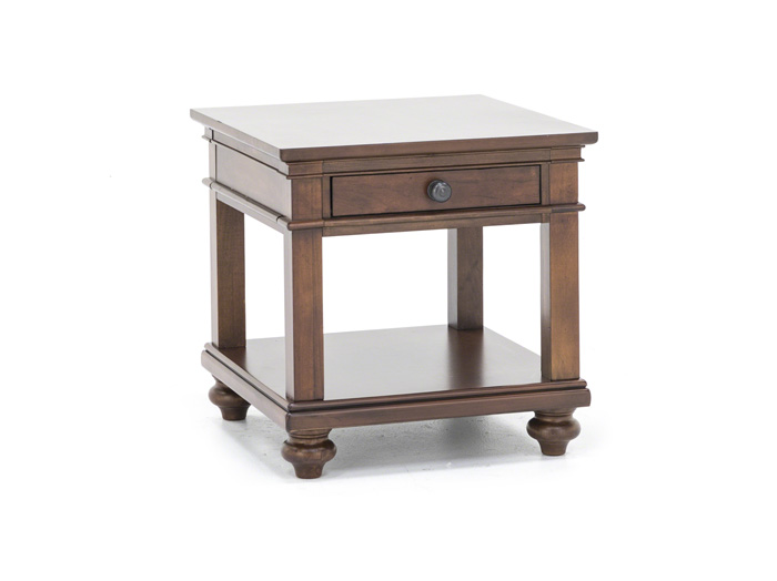 Oxford Whiskey Brown End Table