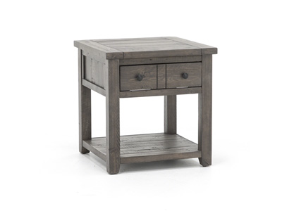 Madison County Barnwood End Table