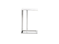 Makayla White Marble End Table
