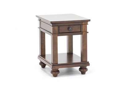 Oxford Whiskey Brown Chairside Table