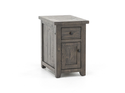 Madison County Barnwood Chairside Table