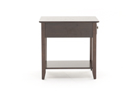 Espresso Chairside Table